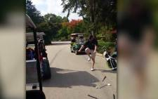 A golfer has a meltdown at a Philadelphia golf club...and it's all caught on tape.   Picture: CNN