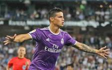 James Rodriguez scored his first Real goal in five months to give the visitors the lead in stoppage time. Picture: Facebook.
