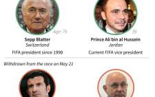 Graphic on the candidates for the Fifa presidency. Source: AFP.
