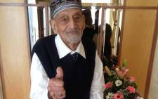 Hoosain Dudukay from Athlone, Cape Town, celebrates his 106th birthday today. Picture: Lauren Isaacs/ EWN.