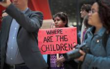Demonstrators protest on 5 June 2018 in Chicago against the Trump administration policy that enables federal agents to separate undocumented migrant children from their parents at the border. Picture: AFP.