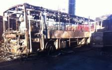 FILE: The remains of a Golden Arrow bus. Picture: EWN