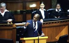 Democratic Alliance (DA) Parliamentary leader, Mmusi Maimane presents his speech for the State of the Nation debate. Picture: Thomas Holder/EWN.