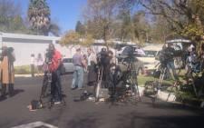 Media outside Nelson Mandela's Houghton home on 1 September 2013. Picture: Govan Whittles/EWN