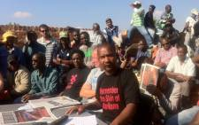 North West miners held a meeting in Marikana on 13 October 2012, where they elected people to coordinate strikes by workers from different mining companies in SA. Picture: Theo Nkonki/EWN.