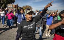Alexandra protesters march to the richest square mile in Africa, Sandton, protesting for better service delivery. Picture: Thomas Holder/EWN