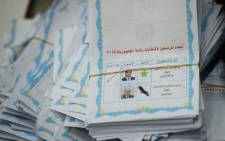 FILE: A picture shows an Egyptian presidential election ballot with the ticked choice of candidate and former army chief Abdel Fattah al-Sisi in a polling station in Cairo on 28 May 2014. Picture: AFP/KHALED DESOUKI