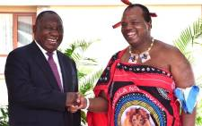 President Cyril Ramaphosa meets King Mswati III on 3 March. Picture: @CyrilRamaphosa/Twitter.