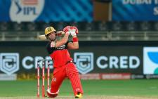 AB de Villiers in action for the Royal Challengers Bangalore during their Indian Premier League Twenty20 match against the Sunrisers Hyderabad in Dubai on 21 September 2020. Picture: @IPL/Twitter