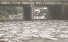 Vehicles swept away by floods in Pretoria West following heavy rains on 12 October 2018. Picture: @tWeatherSA/Twitter