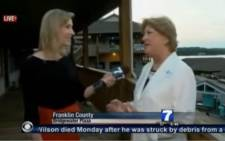 FILE: A screengrab of the video in which reporter Alison Parker and a cameraman were shot and killed on live TV.