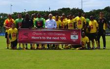 Bafana Bafana show their support to Graeme Smith ahead of his 100th Test as Proteas captain. Picture: Aletta Gardner/EWN