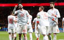 Spain's Isco (#22) celebrates a goal. Picture: Facebook