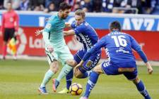 Barcelona's Lionel Messi in action during their game against Alaves. Picture: Twitter/@FCBarcelona.