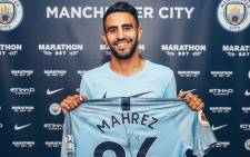 New Manchester City recruit Riyad Mahrez. Picture: @ManCity/Twitter