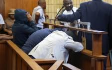 FILE: Titus Mabela, Jason Segole and Puleng Sebetwa in court. Picture: Christa Eybers/EWN.