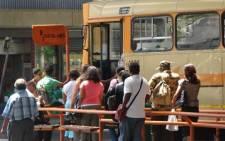 Commuters board a Golden Arrow bus in Cape Town. Picture: EWN