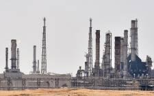 An Aramco oil facility near al-Khurj area, just south of the Saudi capital Riyadh. Picture: AFP
