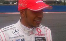 F1 driver Lewis Hamilton in his McClaren gear at the Kyalami race track. Picture: Aki Anastasiou/Eyewitness News
