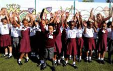 A confident start for Grade 1s at Northcliff Primary School. Picture: Kayleen Morgan/EWN.