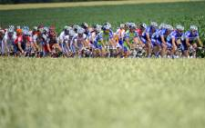 The pack rides in the 213 km and third stage of the 2010 Tour de France. Picture: AFP