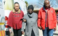 Mantwa Malema (L), Koko Sarah Malema (C), and EFF leader Julius Malema. Picture: @FloydShivambu/Twitter