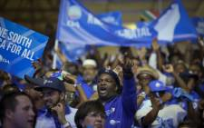 Delegates dancing and singing during the DA Elective Congress in Tshwane on 7 April 2018. Picture: Sethembiso Zulu/EWN