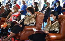 Members of the amaZulu royal family at the memorial service for amaZulu King Goodwill Zwelithini at Kwakhethomthandayo Royal Palace in Nongoma on 18 March 2021. Picture: GCIS