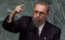 Cuban President Fidel Castro addresses the United Nations Millennium Summit on 6 September 2000. Picture: AFP.