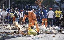 FILE: eThekwini municipal workers protesting over claims of unfair promotions that favoured struggle veterans in the Durban center. Pictures: Abigail Javier/EWN.