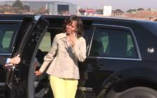 FILE. Michelle Obama arrived in London on Monday with her daughters and mother, Marian Robinson. Picture: Christa Van der Walt/EWN