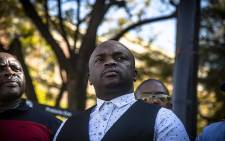 FILE: Tshwane Mayor Solly Msimanga at a protest against the fuel price in Pretoria. Picture: Kayleen Morgan/EWN