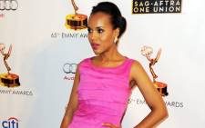 Actress Kerry Washington arrives at The Academy of Television Arts & Sciences and SAG-AFTRA celebration of the 65th Primetime Emmy Award nominees at the Television Academy on September 17, 2013 in No. Hollywood, California. Picture:AFP