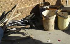 Mining equipment confiscated by the police from illegal miners arrested near Secunda. Picture: @SAPoliceService/Twitter