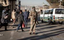 An SANDF soldier on patrol in Alexandra on 13 July 2021 following days of rioting and looting in the township. Picture: Boikhutso Ntsoko/Eyewitness News