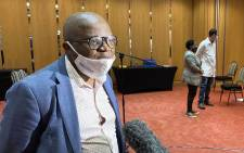 FILE: Former Gauteng Health Department's Prof Mkhululi Lukhele at a media briefing on 23 May 2020. Picture: @GautengHealth/Twitter