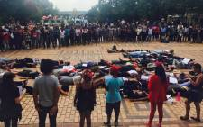 Students at Wits University have held a demonstration at the institution in solidarity with their counterparts at Rhodes fighting against a rape culture. Picture: Ziyanda Ngcobo/EWN.