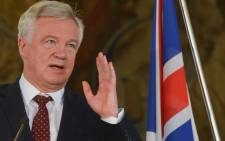FILE: Former British Secretary of State for Exiting the European Union David Davis on 25 July 2017 in Prague. Picture: AFP.