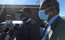 Western Cape Acting Commissioner Major General Thembisile Patekile (C) at the Khayelitsha police station on 17 May 2021 after the murder of 13 people and the arrest of 11 suspects. Picture: Lizell Persens/Eyewitness News