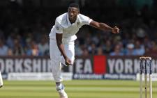 Seamer Kagiso Rabada in action during their clash with England on the first day of the fourth Test at Old Trafford. Picture: @OfficialCSA/Twitter