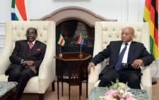 FILE: President Robert Mugabe and President Jacob Zuma. Picture: GCIS.