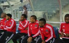 Orlando Pirates players sitting on the bench at Orlando Stadium. Picture: Leeto M Khoza/EWN.
