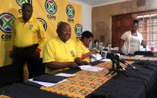Cope president Mosiuoa Lakota briefs the media on the party's draft Private Members Bill on 26 November 2018. Picture: Katleho Sekhotho/EWN.