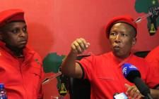 EFF leader Julius Malema briefs the media in Braamfontein, Johannesburg on 5 February 2018. Picture: Kayleen Morgan/EWN