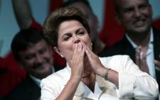 Re-elected Brazilian president Dilma Roussef. Picture: EPA.