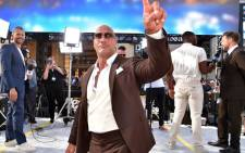 Dwayne Johnson arrives at the premiere of Universal Pictures' 'Fast & Furious Presents: Hobbs & Shaw' at Dolby Theatre on 13 July 2019 in Hollywood, California. Picture: AFP