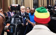 FILE: The Democratic Alliance's Mike Moriarty speaks outside the Pretoria High Court on 13 March 2020 where the party filed an urgent application to review the province's decision to place the Tshwane metro under administration. Picture: @Our_DA/Twitter