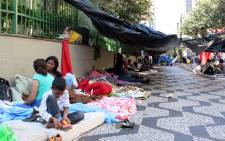 Over 300 homeless families have taken to the streets, camping in front of the City Hall in Sao Paulo demanding better living conditions.  Picture: Christa Eybers/EWN