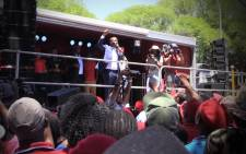 FILE: EFF leader Julius Malema addresses supporters. Picture: Kgothatso Mogale/EWN
