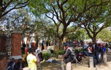 FILE: Foreign nationals on 16 October 2019 protested outside the offices of the UNHCR in Pretoria against xenophobic attacks in South Africa. Picture: Jean-Jacques Cornish/EWN